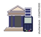 credit card reader and bank... | Shutterstock .eps vector #1336994300
