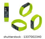 isometric fitness bracelet or... | Shutterstock .eps vector #1337002340