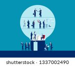 business team working and... | Shutterstock .eps vector #1337002490