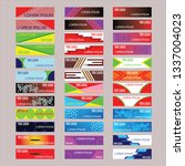 vector abstract design banner... | Shutterstock .eps vector #1337004023
