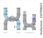 pipe letter. alphabet in... | Shutterstock .eps vector #1337008613