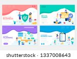 business school website... | Shutterstock .eps vector #1337008643