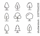 set of tree icon with simple... | Shutterstock .eps vector #1337016233
