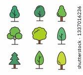 set of tree vector illustration ... | Shutterstock .eps vector #1337016236