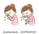 illustration of blow one's nose ...   Shutterstock .eps vector #1337032523
