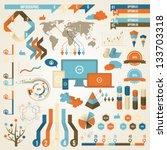 infographic elements and... | Shutterstock .eps vector #133703318