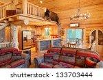 The Interior Of A Modern Log...