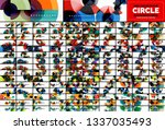 mega collection of circle...   Shutterstock .eps vector #1337035493