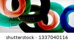 flying circles geometric... | Shutterstock .eps vector #1337040116