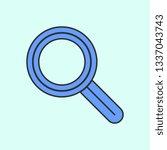 magnifier mono color icon....