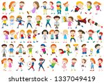 large set of different kids... | Shutterstock .eps vector #1337049419