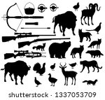 animals and birds silhouettes ... | Shutterstock .eps vector #1337053709