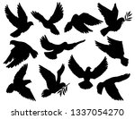 Dove Silhouettes With Olive...