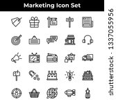 marketing icons. business icon...   Shutterstock .eps vector #1337055956