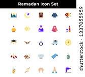 ramadan icons. ramadan icon set ...   Shutterstock .eps vector #1337055959