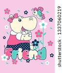 hand drawn cute graphic for t... | Shutterstock .eps vector #1337060219