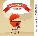 bbq party invitation | Shutterstock .eps vector #133706066