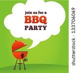 bbq party invitation   Shutterstock .eps vector #133706069