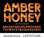 amber honey alphabet is a... | Shutterstock .eps vector #1337072180