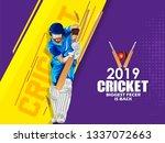 vector illustration of cricket ... | Shutterstock .eps vector #1337072663