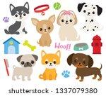 Cute Puppy Dog Vector...