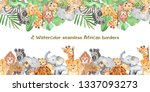 watercolor seamless border with ...   Shutterstock . vector #1337093273