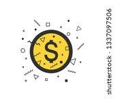 money icon  dollar symbol in...   Shutterstock .eps vector #1337097506