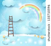 sky background with copy space  ... | Shutterstock .eps vector #133710596