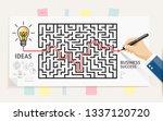 business maze conceptuel design.... | Shutterstock .eps vector #1337120720