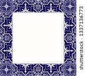 tile frame vector. vintage... | Shutterstock .eps vector #1337136773