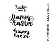 easter hunt. happy easter.... | Shutterstock .eps vector #1337140136