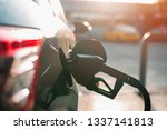 fuel nozzle to refill fuel in... | Shutterstock . vector #1337141813