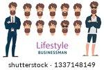 businessmen  young people ... | Shutterstock .eps vector #1337148149