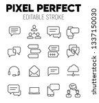 chat related vector icon set.... | Shutterstock .eps vector #1337150030