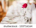 wedding venue decoration for...   Shutterstock . vector #133716164