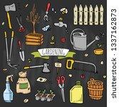 hand drawn doodle set of... | Shutterstock .eps vector #1337162873