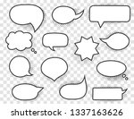 hand drawn white speech bubbles ... | Shutterstock .eps vector #1337163626