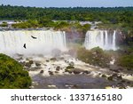 the fantastic roaring iguazu... | Shutterstock . vector #1337165180