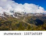 the road grossglocknerstrasse... | Shutterstock . vector #1337165189