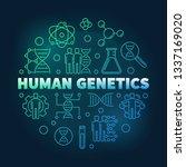 human genetics vector round... | Shutterstock .eps vector #1337169020
