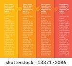four pieces puzzle column... | Shutterstock .eps vector #1337172086