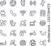 thin line icon set   wireless... | Shutterstock .eps vector #1337184473