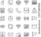 thin line icon set   phone... | Shutterstock .eps vector #1337184506