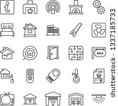 thin line icon set   saw vector ... | Shutterstock .eps vector #1337185733