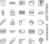 thin line icon set   coffee... | Shutterstock .eps vector #1337187869