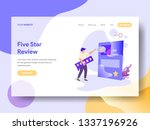 landing page five star vector...