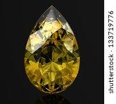 beautiful yellow diamond  high... | Shutterstock . vector #133719776
