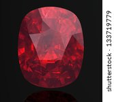 ruby or rodolite gemstone  high ... | Shutterstock . vector #133719779