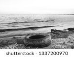 emissions to the sea oil... | Shutterstock . vector #1337200970