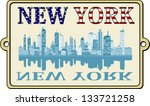 new york label | Shutterstock .eps vector #133721258